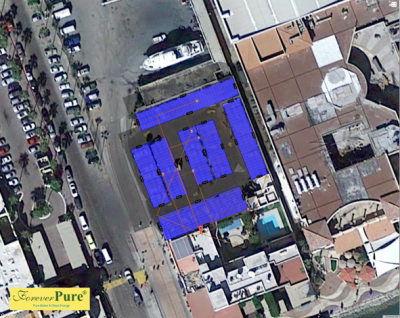 Los Cabos Marina carport solar – full coverage