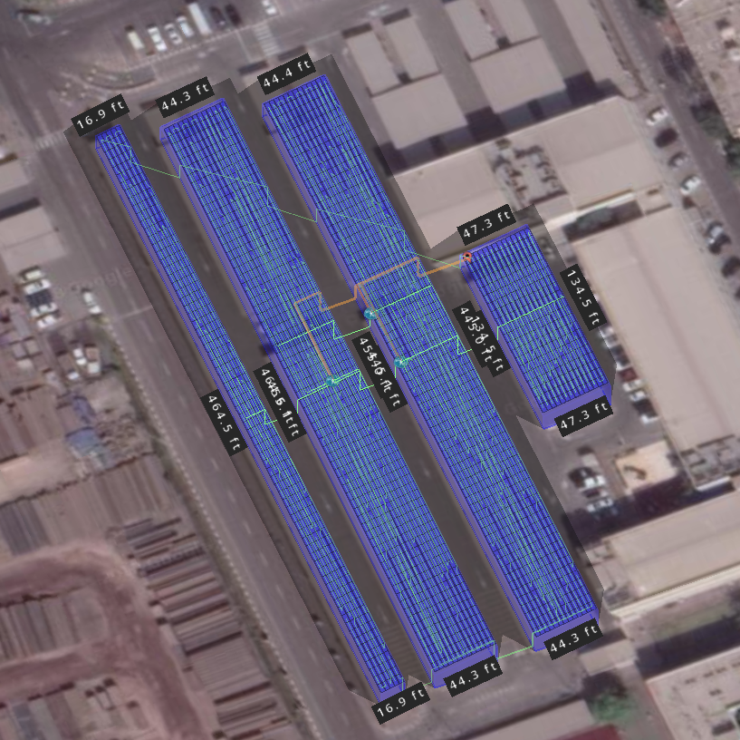 UAE Solar Carport - 3D View